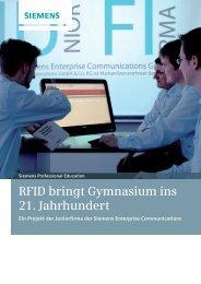RFID bringt Gymnasium ins 21. Jahrhundert - Siemens