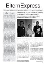 Auszeichnung für das Gymnasium Sulingen beim Siemens Award ...