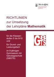 Stoffsammlung zur Hinweisseite: - Gymnasien in Rheinland-Pfalz