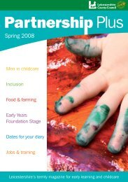 Partnership Plus Spring 2008 - Leicestershire County Council