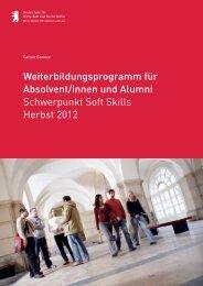 Flyer Weiterbildungsprogramm - HWR Berlin
