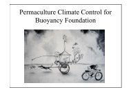 Permaculture Climate Control for Buoyancy Foundation - Peter Horn