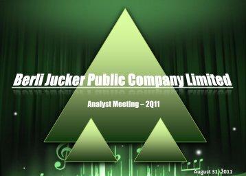 Analyst Meeting –2Q11