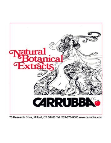 natural botanical extracts - Carrubba
