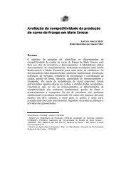 Avaliação da competitividade da produção de carne de frango em ...