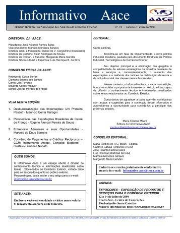 perspectivas das exportações brasileiras de carne de frango - AACE ...
