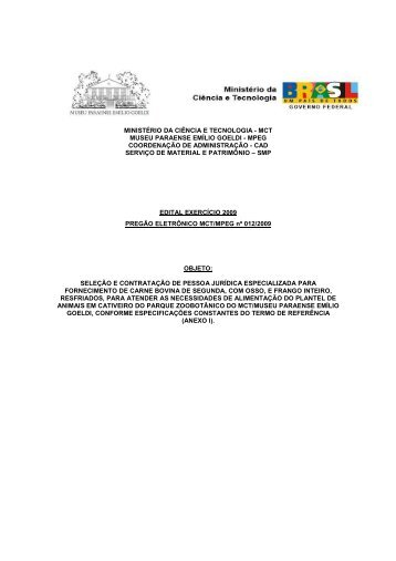 PREGÃO CARNE E FRANGO 122009 - Museu Paraense Emílio ...