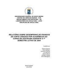 relatório sobre desempenho de frangos de corte criados por ... - UFSM