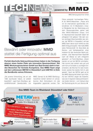 TECHNEWS powered by MMD - MMD Werkzeugmaschinen GmbH