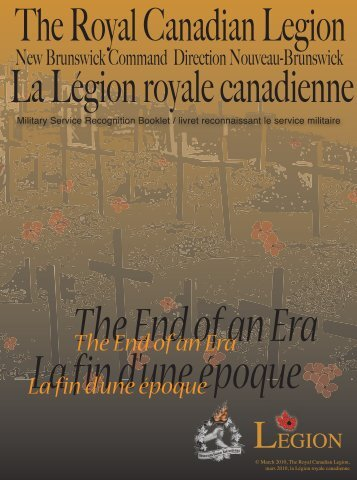 La fin d'une époque The End of an Era - Royal Canadian Legion ...