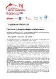 presseinformation - Kassel Marathon