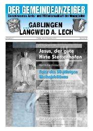 Jesus, der gute Hirte Stettenhofen