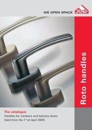 Roto handles - Roto Frank AG - DYG Windows
