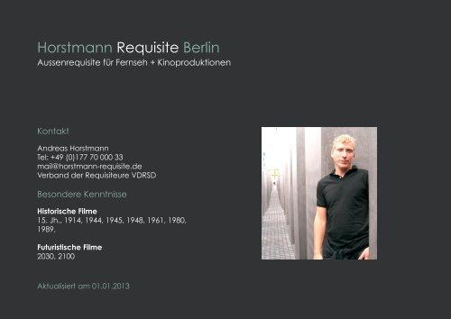 Webseite Andreas Seite 1.indd - Horstmann Requisite Berlin
