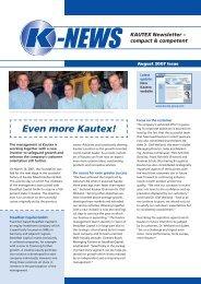 Kautex K-News August/2007 (PDF, 2.0 MB
