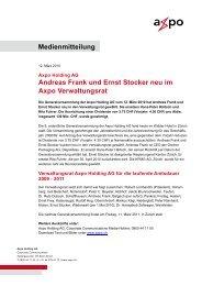 Medienmitteilung Andreas Frank und Ernst Stocker neu im Axpo ...