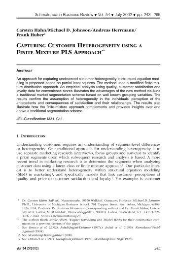 capturing customer heterogeneity using a finite mixture pls approach