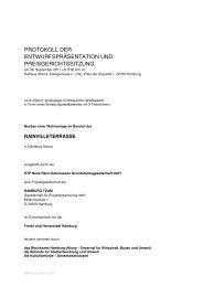 protokoll der entwurfspräsentation und ... - D&K drost consult