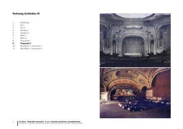 Vorlesung Architektur III - Professur Dietmar Eberle für Architektur ...