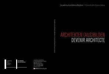 architekten (aus)bilden - Bachelor - Università della Svizzera italiana
