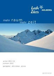 Ferienplaner Lech Arlberg mit 102 Seiten