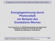 Energiegewinnung durch Photovoltaik am Beispiel des Eisstadions ...