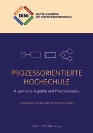 Flyer Prozessorientierte Hochschule 2011 Titel - DINI