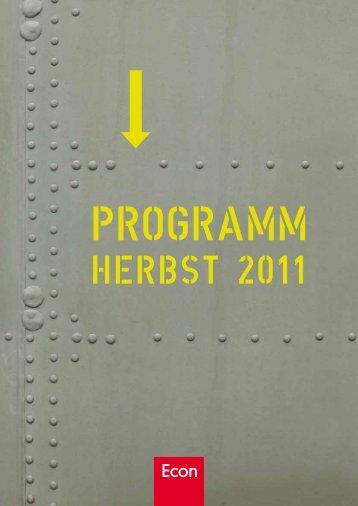 HERBST 2011 - bei den Ullstein Buchverlagen