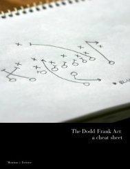 The Dodd-Frank Act: a cheat sheet - Morrison & Foerster LLP