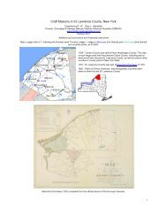 Craft Masonry in St. Lawrence County, New York - Onondaga and ...
