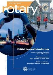 Städteverbindung - Rotary Schweiz