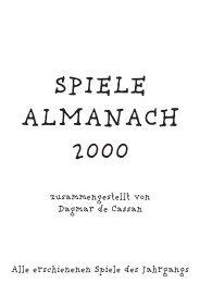 Spiele Almanach 2000 - Österreichisches Spiele Museum