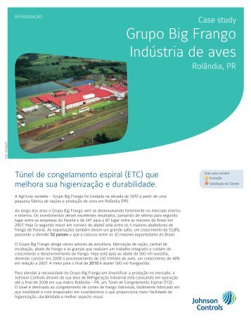 Grupo Big Frango Indústria de aves - Johnson Controls