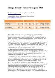Frango de corte: Perspectivas para 2012 - Avisite
