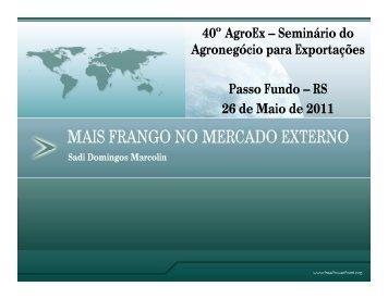 mais frango no mercado externo - Ministério da Agricultura ...