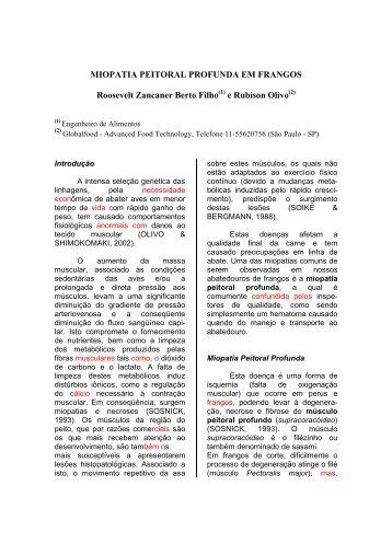MIOPATIA PEITORAL PROFUNDA EM FRANGOS ... - Globalfood