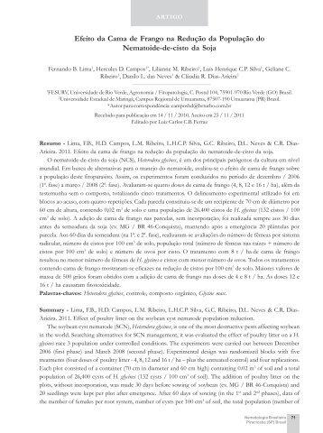 Cama de frango, efeito na redução populacional, Hg