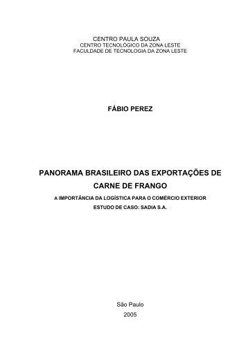panorama brasileiro das exportações de carne de frango