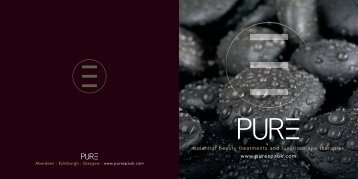 www.purespauk.com essential beauty treatments and luxurious spa ...