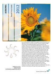 2012 Auroma Price List - Australian Botanical Products