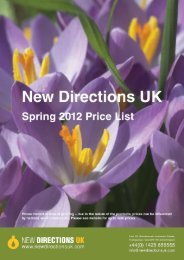 New Directions UK - Spring 2012 Price List