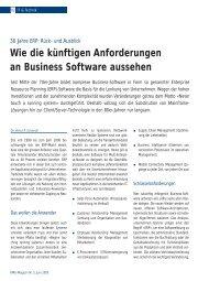 Wie die künftigen Anforderungen an Business Software aussehen