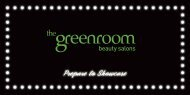 Download full treatment brochure click here. - The Green Room