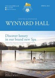 11827 Magazine_Spring 2012.pdf - Wynyard Hall