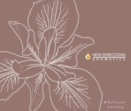 Wholesale Catalog - New Directions Aromatics
