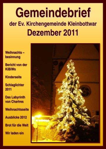 Gemeindebrief Dezember 2011 - Evangelische Kirchengemeinde ...