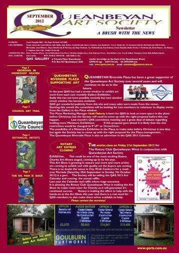 September 2012 (pdf 1.08MB) - Queanbeyan Art Society