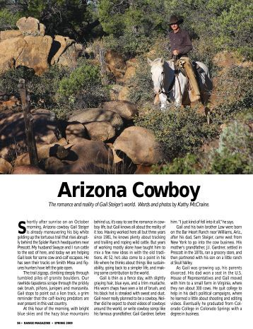 RANGE Spring 2009 - Arizona Cowboy - Range Magazine