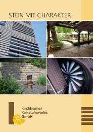 Stein mit Charakter - Kirchheimer Kalksteinwerke GmbH
