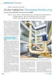 Automatische Abwasserförderung - p2m berlin